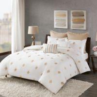 INK+IVY Stella Dot King Comforter Set in White
