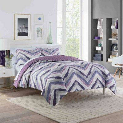 Vue® Baxter Reversible Twin XL Comforter Set In Plum