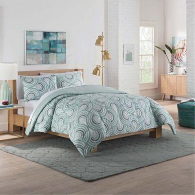 Vue® Frenchy Reversible Queen Comforter Set In Sage