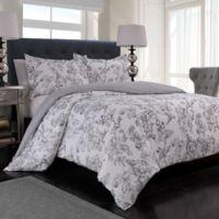 Jardin Reversible King Comforter Set in Black