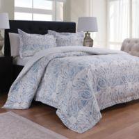 Palermo Reversible King Comforter Set in Blue
