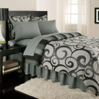 Royale Home Alessandro 8-Piece Reversible Full Comforter Set in Black