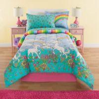 Kidz Mix Unicorn 8-Piece Reversible Full Comforter Set in Teal/Pink