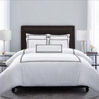 Wamsutta® MICRO COTTON® Triple Baratta Stitch Full/Queen Comforter Set in Onyx