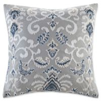 INK+IVY Sky Embroidered Square Throw Pillow in Grey