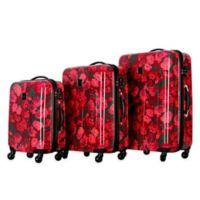 Isaac Mizrahi Irwin II 3-Piece Hardside Spinner Luggage Set in Berry