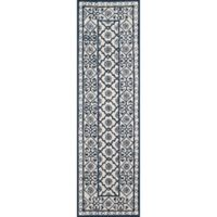 Momeni Newport Tufted 2'3 x 8' Area Rug in Blue
