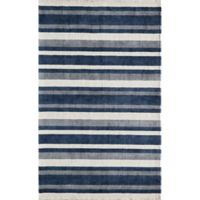 Momeni Metro 5' x 8' Area Rug in Navy