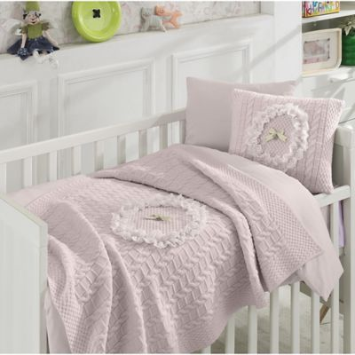 Nipperland® Floral 6 Piece Crib Bedding Set In Pink