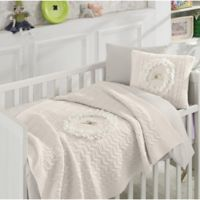 Nipperland® Floral 6-Piece Crib Bedding Set in Cream