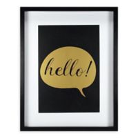 "Linden Ave 11-Inch x 14-Inch ""Hello"" Framed Artwork"