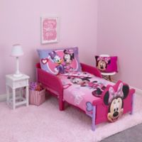 Disney® Minnie Mouse Hearts and Bows 4-Piece Toddler Bedding Set