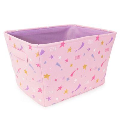 Closet Complete® Star Print Canvas Storage Bin In Pink