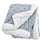 Just Born® Plush Star Blanket in Heather Grey