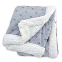 Just Born® Plush Star Blanket in Heather Grey