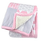 Just Born® Patchwork Plush Blanket in Pink