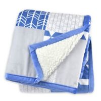Just Born® Patchwork Plush Blanket in Blue