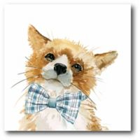 Courtside Market Cute Critter Fox 12-Inch Square Canvas Wall Art