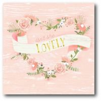 """Courtside Market """"Isn't She Lovely"""" 12-Inch Square Canvas Wall Art"""