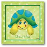 Courtside Market Turtle 12-Inch Square Canvas Wall Art
