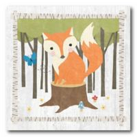 Courtside Market Woodland Hide Away Fox 16-Inch Square Canvas Wall Art