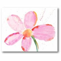 Courtside Market Pink Daisy 11-Inch x 14-Inch Canvas Wall Art