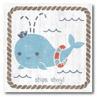 Courtside Market Nautical Friends I 16-Inch Square Canvas Wall Art