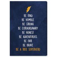 Oliver Gal Be a True Superhero 10-Inch x 15-Inch Canvas Wall Art in Blue
