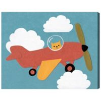 Oliver Gal Home Aerocat 17-Inch x 20-Inch Canvas Wall Art in Blue