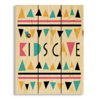 """Designs Direct """"Kids Cave"""" 10.5-Inch x 14-Inch Pallet Wood Wall Art"""
