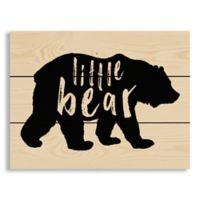 "Designs Direct ""Little Bear"" 10.5-Inch x 14-Inch Pallet Wood Wall Art"