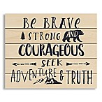 "Designs Direct ""Be Brave Strong and Courageous   22-Inch x 18-Inch Pallet Wood Wall Art"