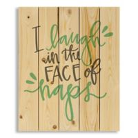 "Designs Direct ""I Laugh in the Face of Naps"" 18-Inch x 22-Inch Pallet Wood Wall Art"
