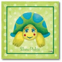 """Courtside Market """"Slow Poke"""" Turtle 16-Inch Square Canvas Wall Art"""