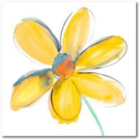 Courtside Market Yellow Summer Daisy 16-Inch Square Canvas Wall Art