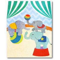 Courtside Market Center Stage I Elephants 16-Inch x 20-Inch Canvas Wall Art