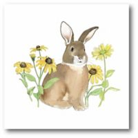 Courtside Market Wildflower Bunnies I 12-Square Canvas Wall Art