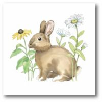 Courtside Market Wildflower Bunnies II 12-Square Canvas Wall Art