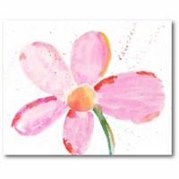 Courtside Market Bubbly Pink Daisy 16-Inch x 20-Inch Canvas Wall Art