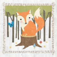 Courtside Market Woodland Hideaway Fox 12-Inch Square Canvas Wall Art