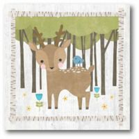 Courtside Market Woodland Hideaway Deer 12-Inch Square Canvas Wall Art