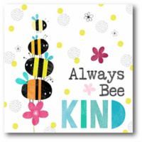 """Courtside Market """"Always Bee Kind"""" 16-Inch Square Canvas Wall Art"""