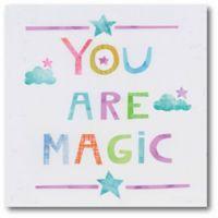 """Courtside Market Unicorn Magic V """"Your Are Magic"""" 16-Inch Square Canvas Wall Art"""
