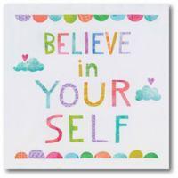 """Courtside Market Unicorn Magic VI """"Believe in Yourself"""" 16-Inch Square Canvas Wall Art"""
