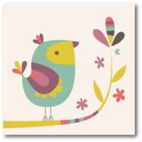 Courtside Market Birdy Num Nums VI 16-Inch Square Canvas Wall Art