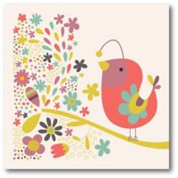 Courtside Market Birdy Num Nums III 16-Inch Square Canvas Wall Art