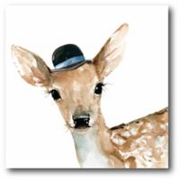 Courtside Market Cute Critter Deer 16-Inch Square Canvas Wall Art