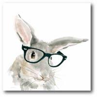 Courtside Market Cute Critter Rabbit 16-Inch Square Canvas Wall Art