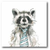 Courtside Market Cute Critter Raccoon 16-Inch Square Canvas Wall Art