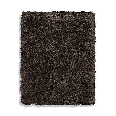 Home Venetian Shag Rug In Chocolate Brown Bed Bath Amp Beyond